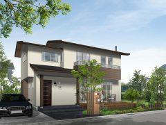 木や床タイルの質感にこだわりを持たせた戸建て住宅(WIH&E-Paint)
